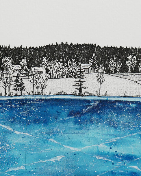 Comma Collective Sara Jira ilustracja rysunek lód