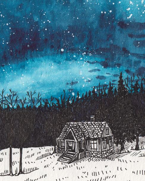Comma Collective Sara Jira ilustracja rysunek niebo skandynawia